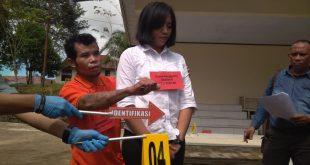 rekonstruksi atas kasus pembunuhan yang terjadi pada 5 Desember 2018 lalu di Dusun Dungkan, Desa Dharma Bakti, Kecamatan Teriak, Kabupaten Bengkayang.