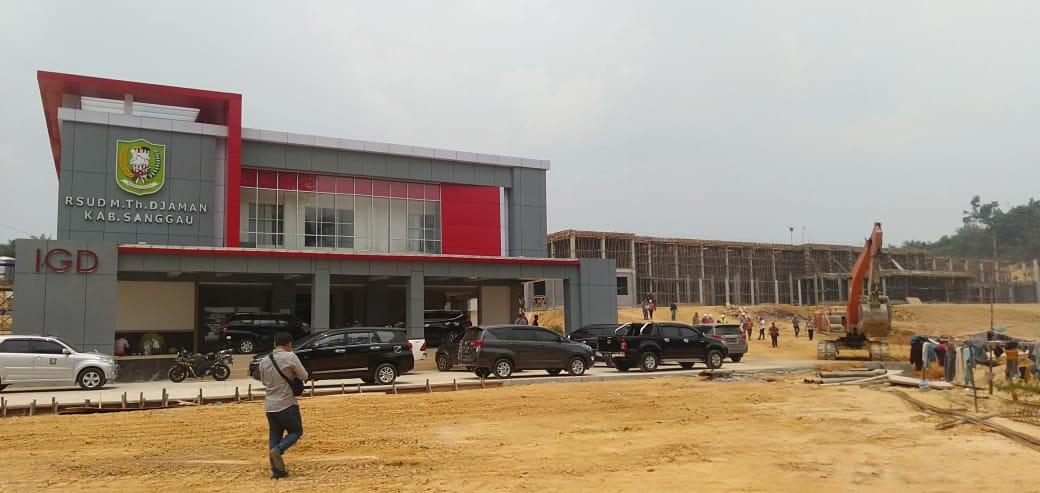 Foto---Gedung RSUD M.Th Djaman yang masih dalam proses pembangunan