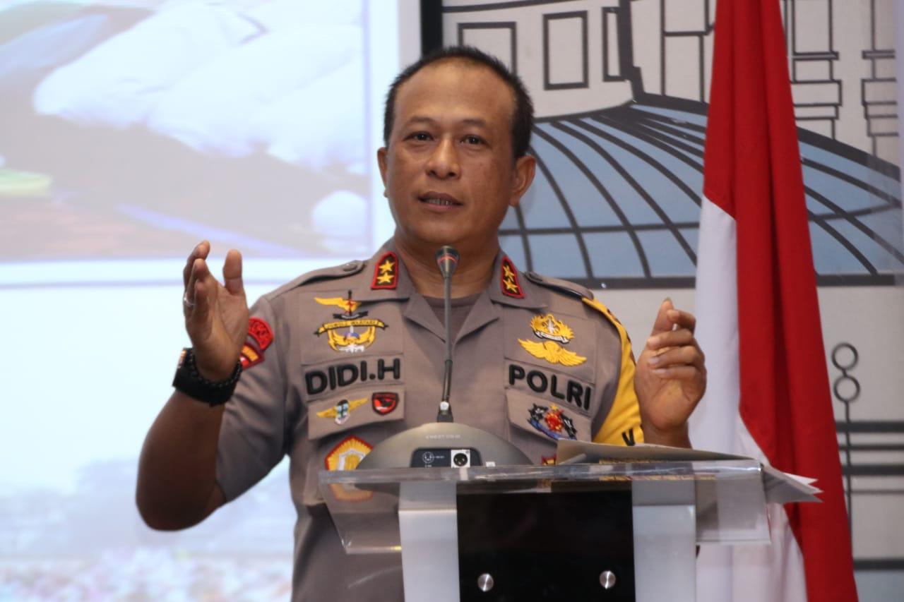 Kapolda Kalbar, Irjen Pol Didi Haryono dalam FGD Penanganan Karhutla dan Solusinya, di Hotel Ibis Pontianak, Selasa (08/10/2019)