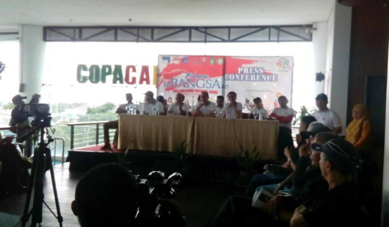 Press Conference Konser Kebangsaan di Hotel Golden Tulip Pontianak, Kamis (14/11/2019).