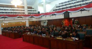 Paripurna Penyusunan AKD di Balairungsari DPRD Provinsi Kalbar, Selasa (26/11/2019) sore.