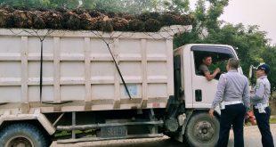 Foto: Dinas Perhubungan melakukan razia rutin terhadap kendaraan overload overdimensi yang lalu lalang di Kabupaten Sanggau tanpa mematuhi aturan Kemenhub---ist