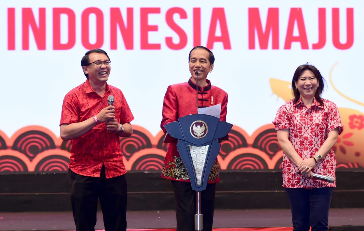 Jokowi Hadiri Perayaan Imlek Nasional