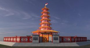 10.000 Lampion, Replika Pagoda Hingga Patung Tikus Hias Kota Singkawang