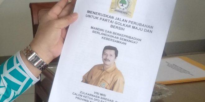 Zulkarnaen Siregar Tak Main-main Maju Pemilihan Ketua Golkar Kalbar, Ini Buktinya…