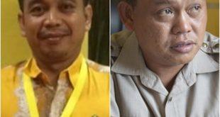 Ketua Harian DPD Pattai Golkar Kabupaten Sanggau, Hendrykus Bambang danKetua DPD Partai Golkar Sanggau, Fransiskus Ason